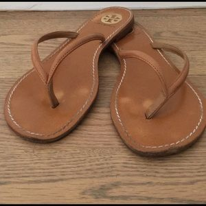 Tory Burch leather flips size 9